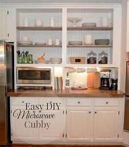 """Built-In"" Cupboard W/ a Microwave Cubby! Hometalk"