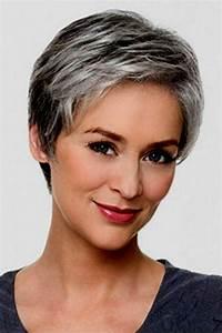 Coupe Cheveux Gris Femme 60 Ans : coupe de cheveux court femme 60 ans 2019 ~ Voncanada.com Idées de Décoration
