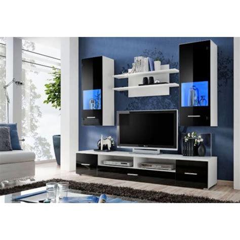 meuble tv et bureau design meuble tv design mural peker noir et blanc