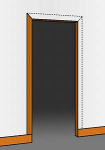installer un encadrement de porte With tour de porte en bois