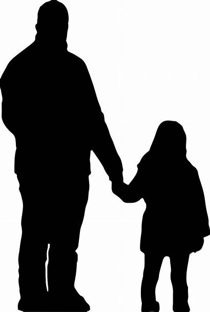 Daughter Silhouette Father Dad Mother Daddy Mom