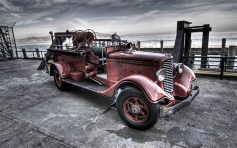 Car, Old Car, Fire Fighter Wallpapers Hd / Desktop And