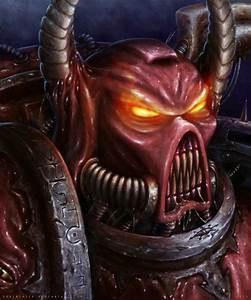 WH40kart - Image 39701: bra1neater chaos face portrait space_marines
