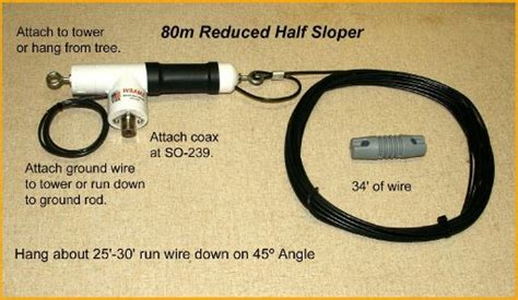80m Or 160m Reduced Half Sloper Antenna By W8amz