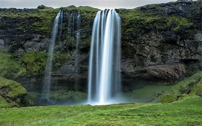 Waterfall Iceland Wallpapers Seljalandsfoss Rock Desktop Stream