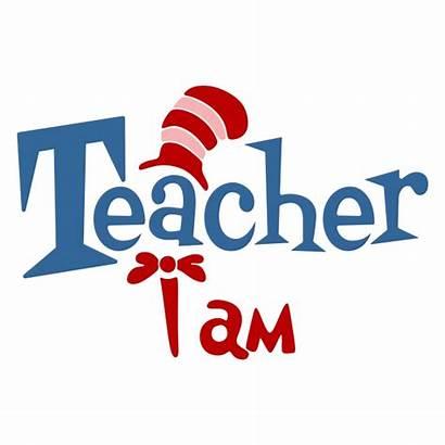 Silhouette Teacher Svg Clipart Cuttable Seuss Cricut