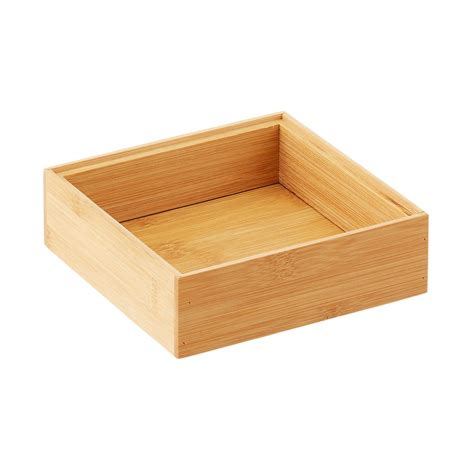 Kitchen Drawer Containers by Bamboo Drawer Organizer Stackable Bamboo Drawer