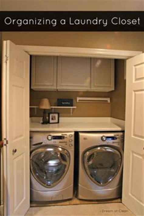 1000 ideas about small laundry closet on