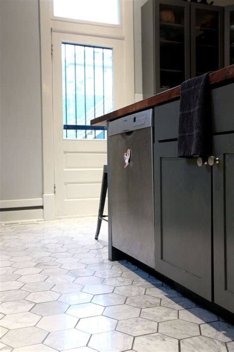 hexagon tile kitchen 30 practical and cool looking kitchen flooring ideas digsdigs