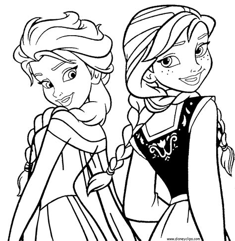 anna  elsa coloring pages  print coloring pages