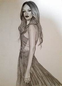 Rihanna Grammy 2013 Drawing by siinned101 on DeviantArt
