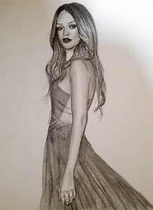 Rihanna Grammy 2013 Drawing by siinned101 on DeviantArt
