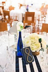 quottying the knotquot a beautiful nautical wedding striped With nautical wedding table decor