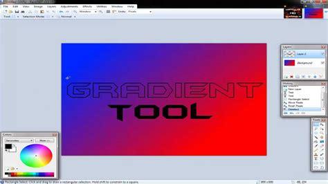 paint net hd tutorial gradient tool