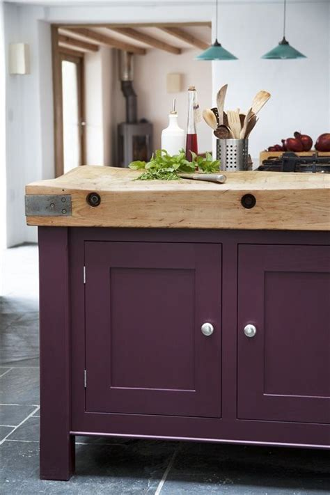 aubergine kitchen accessories reclaimed butchers block island top cabinets painted in 1385