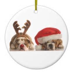 christmas bulldog ornament zazzle
