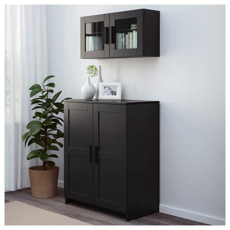 black cabinet with doors brimnes cabinet with doors black 78x95 cm ikea