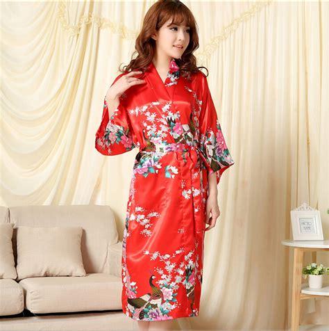 robe de chambre japonaise robes élégantes robe de chambre longue satin