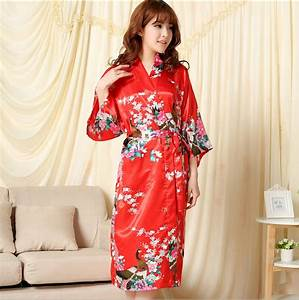 shipping male female couple pajamas nightgown summer solid With robe de chambre soie