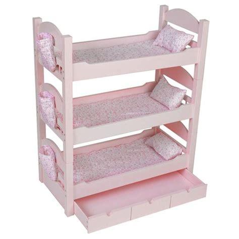 triple bunk beds trundlesleeps  dolls  generation