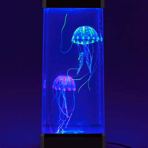 neon jellyfish jelly fish in a tank mood lighting by the source ebay
