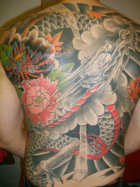 full  piece japanese dragon tattoo designs