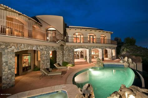 Another enormous stone home gorgeous pool!   Scottsdale ...