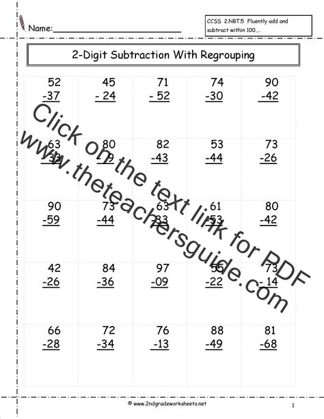 subtraction worksheets     subtraction