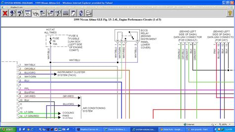 99 Altima Wiring Diagram by I A 99 Altima 2 4l That I Just Replace The Intake