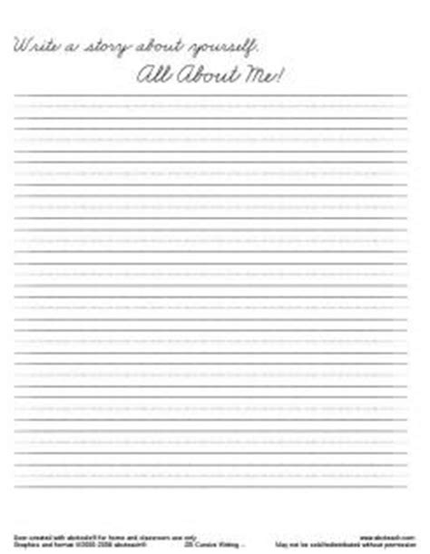Cursive Writing Paper Template by Handwriting Template Sles