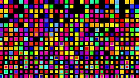 color squares light array of shimmering color squares stock footage