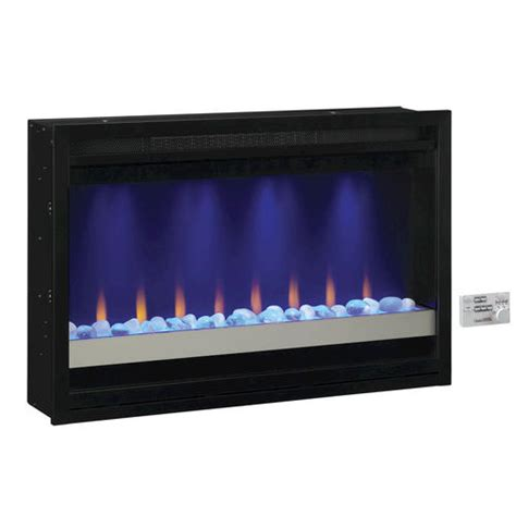 electric fireplace insert menards 36 quot electric built in contemporary fireplace insert at