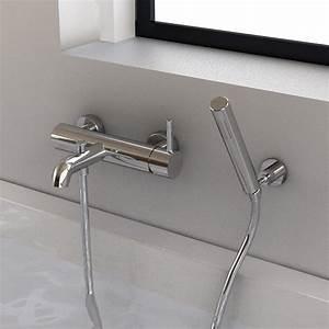 Douchette Salle De Bain : robinet mitigeur bain mural century et douchette ~ Edinachiropracticcenter.com Idées de Décoration