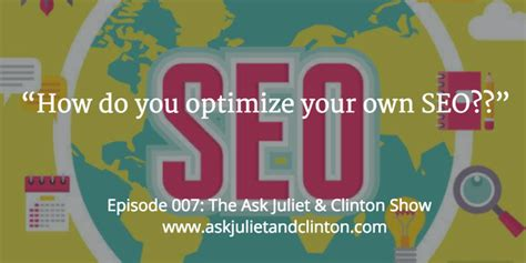Episode How You Optimize Your Own Seo