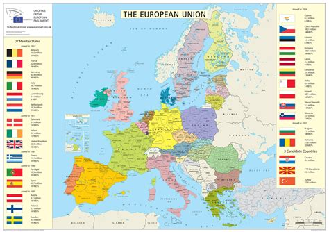 european union member states detailed map detailed map