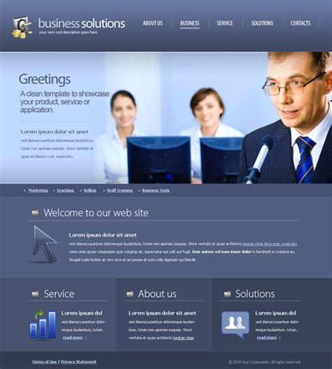 decision making web template  business website