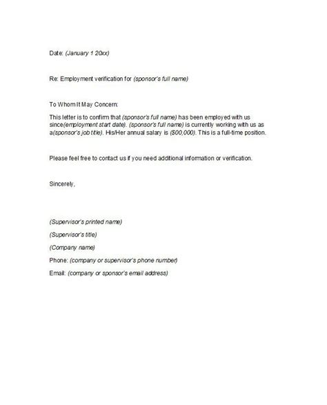 proof  employment letter   business letter