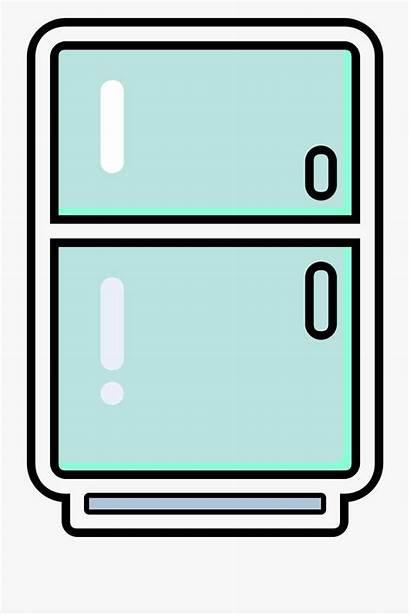 Fridge Refrigerator Clipart Freezer Clip Cliparts Transparent