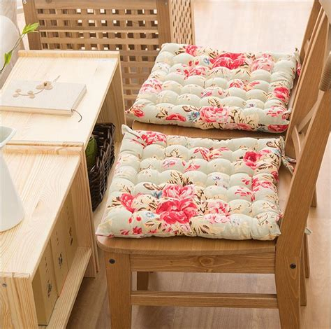 shabby chic seat cushions country cottage shabby chic floral rose cotton quilted chair seat cushion pad ebay