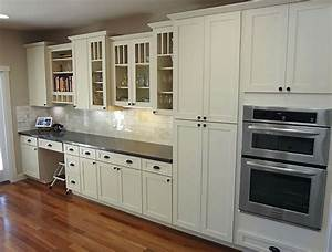 White Shaker Cabinets - Kitchen Remodeling