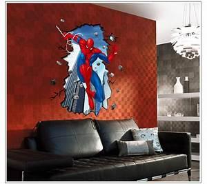 Diy superhero wall decor : Super hero spider man mural wall sticker diy art vinyl