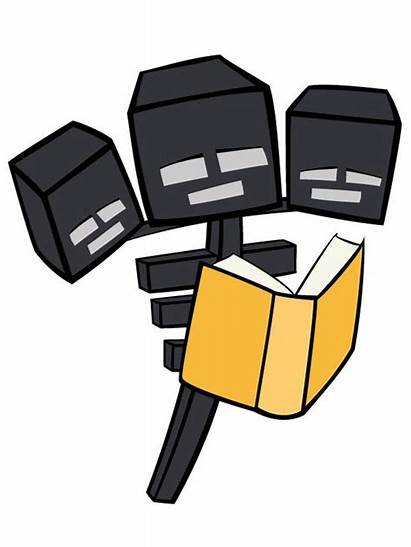 Minecraft Clipart Printable Wither Reading Enderman Library