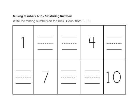 Numbers 110 Worksheet Simple  Kiddo Shelter