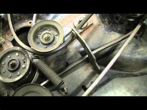 how to replace the main drive belt on a troy bilt riding