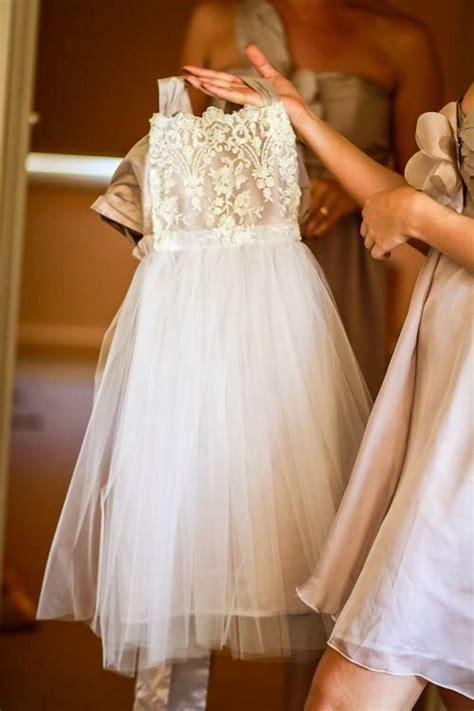 pretty tulle lace flower girls dress  httpwww
