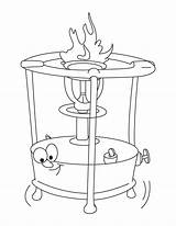 Stove Coloring Pages Drawing Getdrawings sketch template