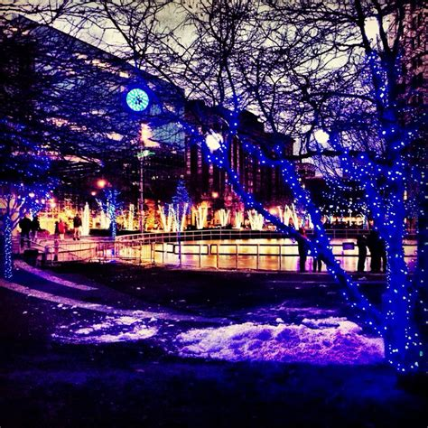 rosa parks circle with holiday lights visit grand rapids