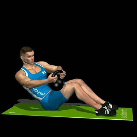 russian twist kettlebell exercise workout skimble crossfit exercises kettlebells step abs upper description