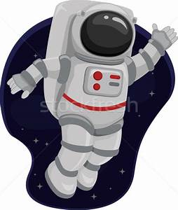 Astronaut Space Wave vector illustration © lenm (#4274356 ...