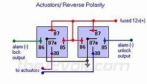 12 Volt Relay Wiring Code : door locks actuators reverse polarity negative ~ A.2002-acura-tl-radio.info Haus und Dekorationen